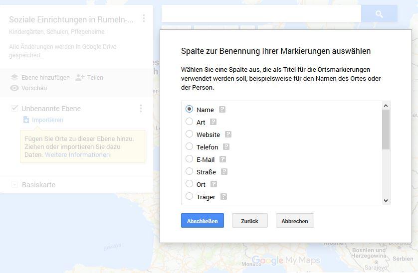 GoogleMapsBenennung